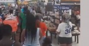 Спонтанно хваление в супермаркет вместо мирен протест